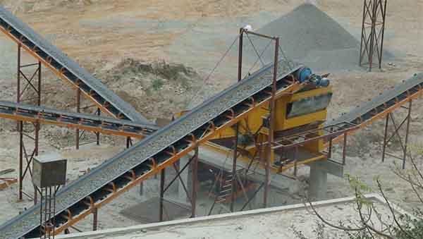belt conveyor installation